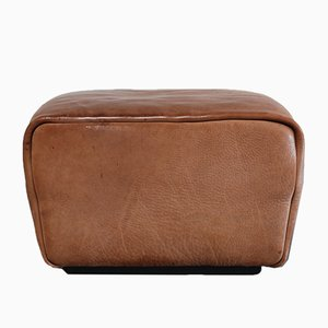 Vintage DS-47 Cognac Neck Leather Pouf from de Sede
