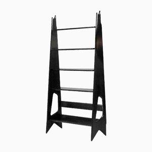 Blackened Oak Shelving Unit by Pierre Cruège for Formes, 1950s
