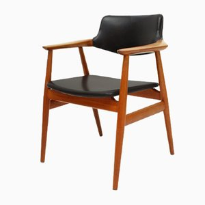 GM11 Danish Teak & Skai Armchair by Svend Åge Eriksen for Glostrup, 1962