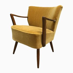 Vintage Side Chair in Gold Velvet Velour from Artifort
