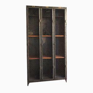 Antique Locker with 3 Doors