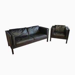 Vintage Modell 2335 Sofa mit Sessel von Børge Mogensen für Fredericia, 2er Set