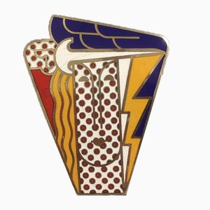 Broche pour Femme Pop Art Vintage par Roy Lichtenstein pour Multiples Inc, 1960s