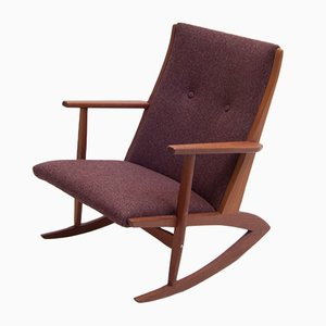 Vintage Boomerang Rocking Chair by Georg Jensen for Tønder Møbelværk