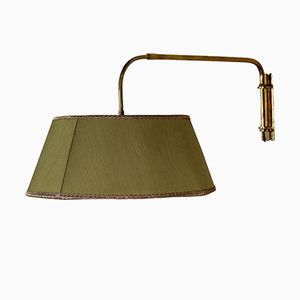 Extendable Brass Wall Lamp, 1950s