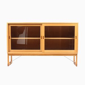 Danish Oak & Glass Cabinet by Børge Mogensen for Karl Andersson & Söner, 1960s