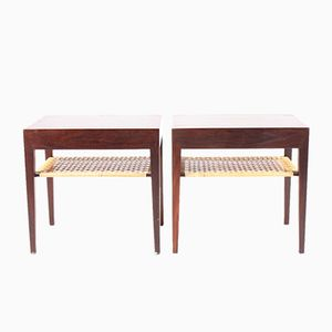 Tables de Chevet en Palissandre par Serverin Hansen for Haslev Møbelsnedkeri, 1950s, Set of 2