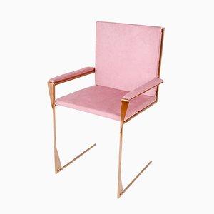 Frame Chair aus Kupfer und Baumwollsamt von COSE