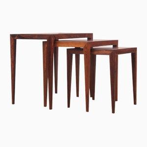 Tables Gigognes Modernes Mid-Century en Palissandre de Rio par Severin Hansen pour Haslev Mobelfabrik, 1960s