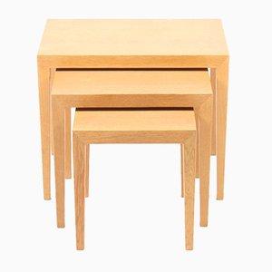 Tables Gigognes en Chêne par Serverin Hansen pour Haslev Møbelsnedkeri, 1960s