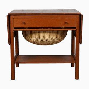 Vintage AT-33 Teak Sewing Table by Hans J. Wegner for PP Møbler