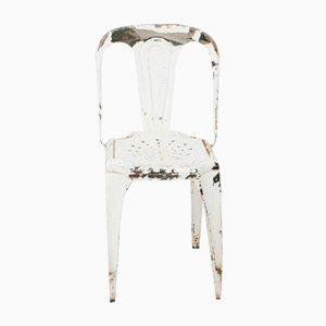 Vintage White Chair from Fibrocit