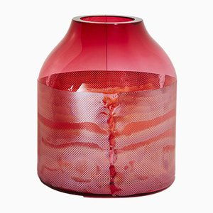 Gold Ruby Colored by Copper Co Co Vase by Milena Kling, 2015
