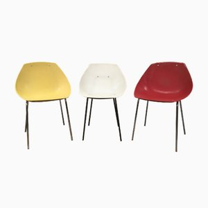 Vintage Shell Dining Chairs by Pierre Guariche for Meurop, 1960s, Set of 3