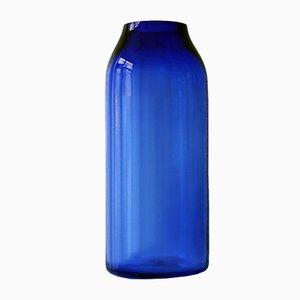 Grand Vase Ra XL en Verre Bleu Royal par Milena Kling