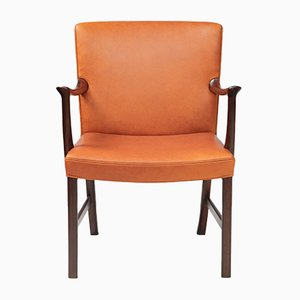 Rosewood Armchair by Ole Wanscher for A.J. Iversen, 1950s
