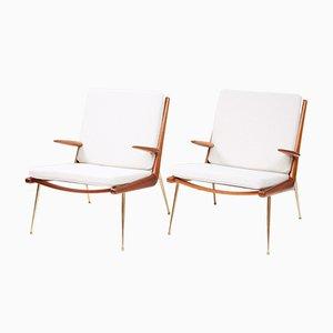 FD-159 Boomerang Chairs by Peter Hvidt & Orla Molgaard-Nielsen for France & Daverkosen, 1950s, Set of 2