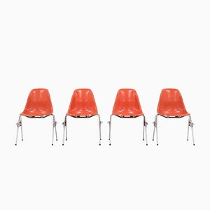 Model DSS Dining Chairs by Charles and Ray Eames for Herman Miller, Set of 4