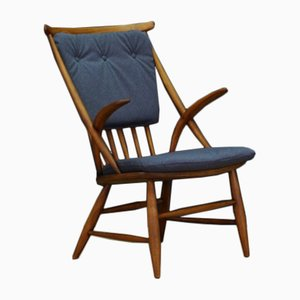 Vintage Danish Model IW2 Beech Chair by Illum Wikkelsø for Niels Eilersen