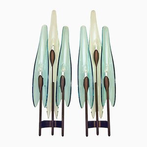 Dahlia Wandleuchten von Max Ingrand für Fontana Arte, 1950er, 2er Set