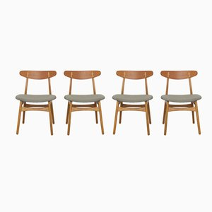 CH30 Chairs by Hans J. Wegner for Carl Hansen & Son, 1950s