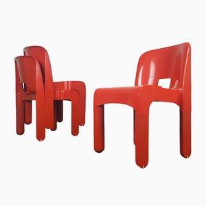 4867 Universale Sessel von Joe Colombo für Kartell, 1965, 3er Set
