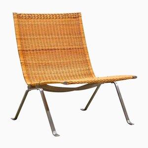 PK-22 Sessel aus Korbgeflecht von Poul Kjaerholm für E. Kold Christensen, 1950er
