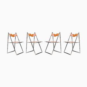 Elios Folding Chairs by Fontoni & Geraci, 1960s, Set of 4
