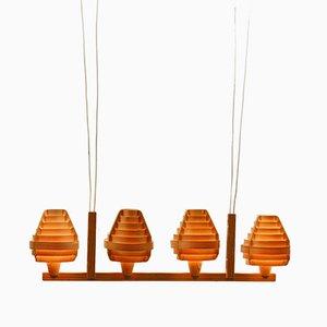 Vintage Pine Veneer Ceiling Lamp by Hans-Agne Jakobsson for Ellysett Markaryd
