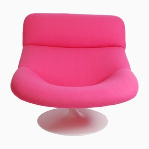 Vintage Pink F518 Lounge Swivel Chair by Geoffrey Harcourt for Artifort