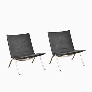 PK22 Lounge Chairs by Poul Kjærholm for Kold Christensen, 1980s, Set of 2
