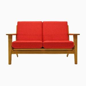 Vintage Oak & Wool 2-Seater Sofa by Hans J. Wegner for Getama