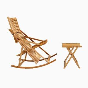 Rocking Chair A1 et Ottomane A4 par Jean-Claude Duboys pour Attitude, 1980s
