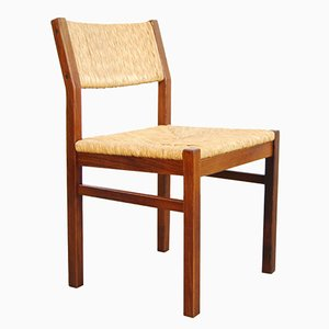 Dutch Ash & Reed Dining Chair from Pastoe, 1970s