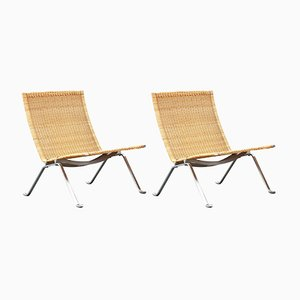 Vintage PK-22 Easy Chairs by Poul Kjærholm, Set of 2