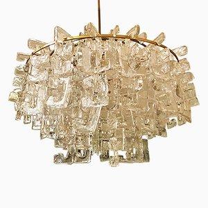 Italienischer Murano Glas Kronleuchter von Carlo Nason für Mazzega, 1960er
