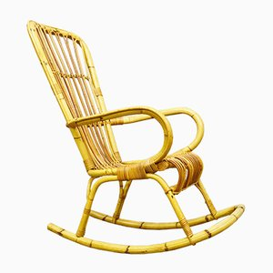 Bamboo Rocking Chair, 1970s