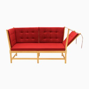 Vintage 1789 Sofa in Beech and Wool by Borge Mogensen for Fritz Hansen