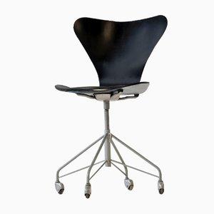 3117 07 Bürostuhl von Arne Jacobsen für Fritz Hansen, 1950er