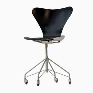 Chaise de Bureau 3117 07 par Arne Jacobsen pour Fritz Hansen, 1950s