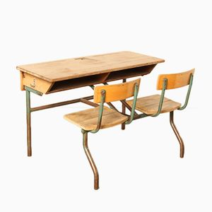 2-Sitzer Schulbank, 1950er