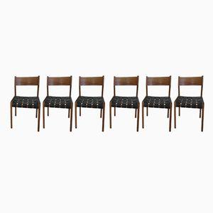 Italienische Teak Stühle von Fratelli Reguitti, 1950er, 6er Set