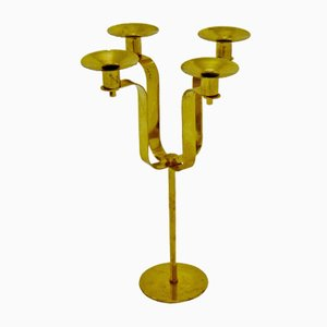 Brass Candelabra by Hans-Agne Jakobsson, 1950s