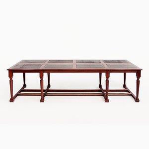 Großer Mahagoni Bibliothek Tisch, 19. Jh.
