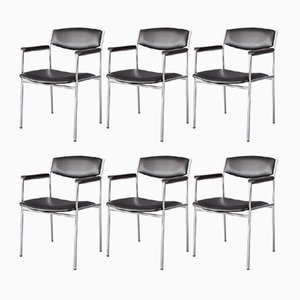 Vintage Dining Chairs by Gijs van der Sluis for 't Spectrum, Set of 6