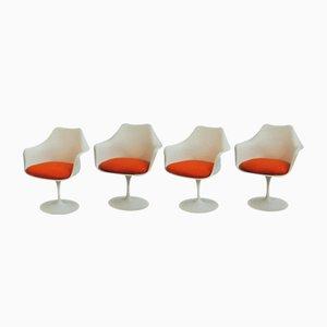 Vintage Tulip Armchairs by Eero Saarinen for Knoll International, Set of 4