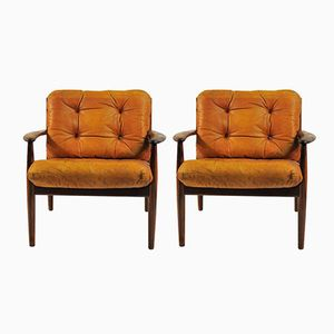 Lounge Chairs in Rosewood by Grete Jalk for France & Søn / France & Daverkosen, 1960s, Set of 2
