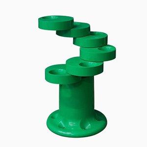 Green Pluvium Umbrella Stand by G.C. Piretti for Anonima Castelli, 1972