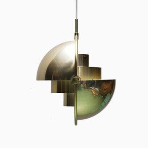 Hängelampe mit Multiplen Leuchten von Louis Weisdorf für Lyfa, 1970