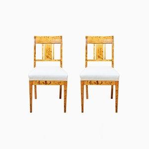 Antike Stühle aus Birke, 4er Set